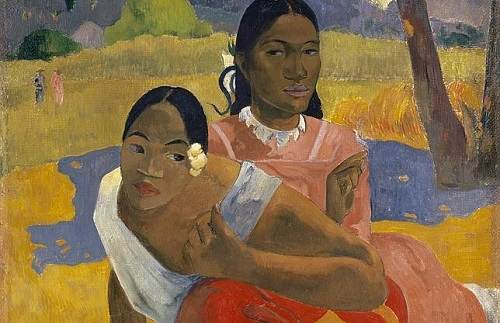 Paul Gauguin. Nafea faa ipoipo (When Will You Marry?) (detail), 1892. Oil on canvas