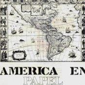 América en papel, 1982. Cartel