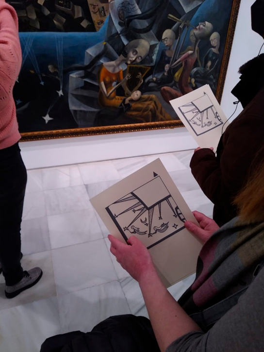 Visita En detalle. Un mundo en el Museo Reina Sofía, 2021. Fotografía: Javier Sanjurjo