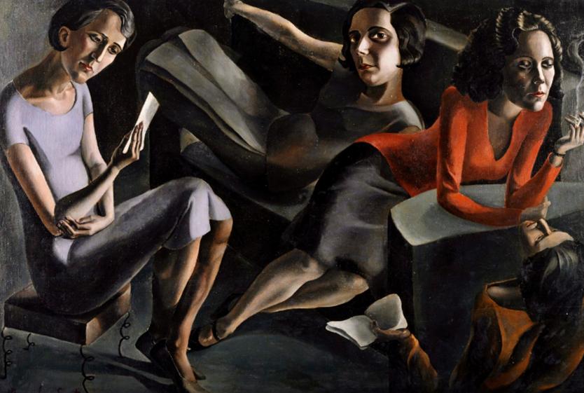 Ángeles Santos Torroella, Tertulia, 1929. Museo Nacional Centro de Arte Reina Sofía. ©Ángeles Santos. VEGAP, 2021