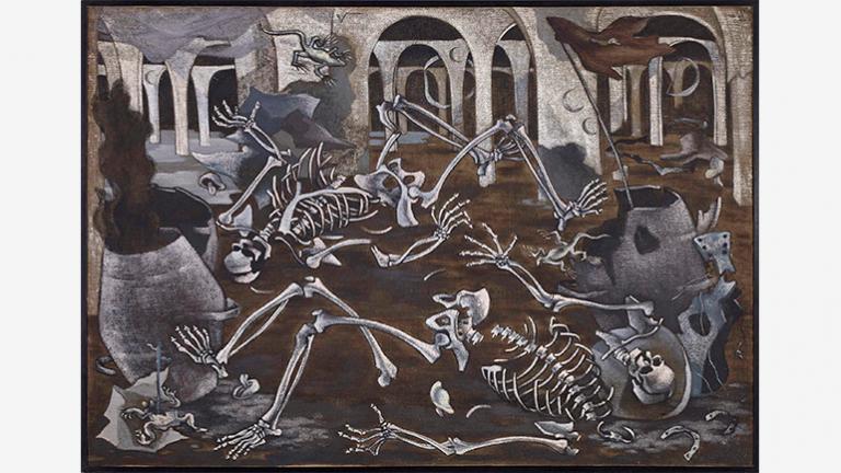 Maruja Mallo, Antro de fósiles (Den of Fossils), 1933