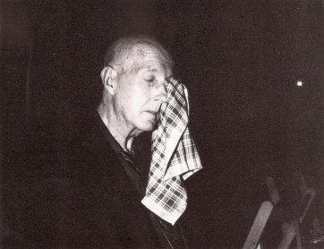 Juan Hidalgo. Una acción Zag, 1993. Foto: J. Antonio Mula