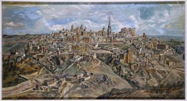 Benjamín Palencia. Toledo, 1943. Óleo sobre lienzo, 102,5 x 188 cm