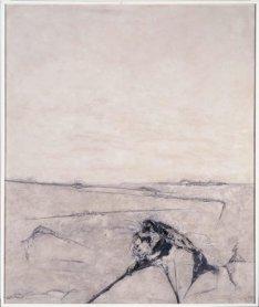 Gustavo Torner. Blancos, 1961. Feldespato, cáñamo, tela metálica, óleo y látex sobre lienzo, 195 x 162 cm