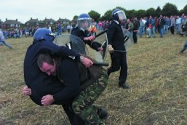 Jeremy Deller y Mike Figgis. The Battle of Orgreave, 2002