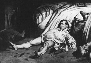 Honoré Daumier. Rue Transnonain,15 de abril de 1834, 1834