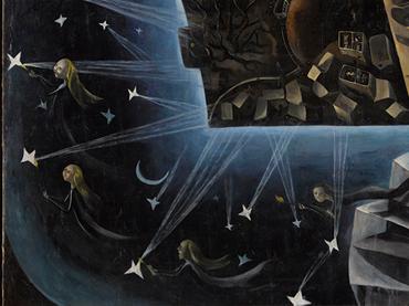 Detalle de la obra Un mundo, Ángeles Santos, 1929