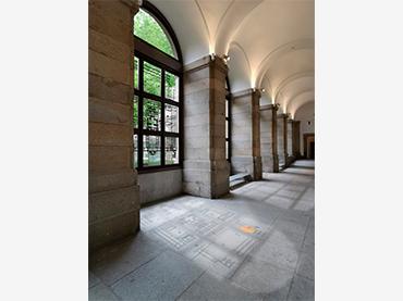 Fotomontaje de Instalación de Vinilos en Planta 1, Edificio Sabatini, Museo Reina Sofía