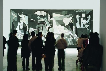 Bernardo Atxaga. Poetry Reading in front of Guernica