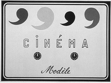 Marcel Broodthaers. Cinéma Modèle. Plancha de plástico moldeada al vacío y pintada, 1970