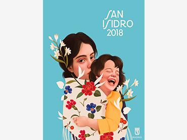 Mercedes deBellard y Silvia Fernández Palomar, cartel del Ayuntamiento de Madrid para las fiestas de San Isidro, 2018