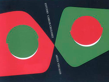 Diseño de papelería para el Estudio de Artes Visuales de Carlos Cruz-Diez, Caracas, 1957. © Estate of Carlos Cruz-Diez / Bridgeman Images, Madrid, 2021