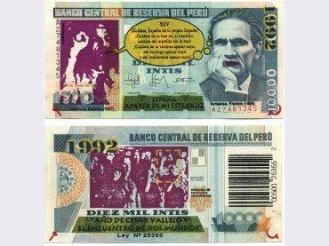 VV.AA. (Post-NN). España, aparta de mí este cáliz. Serigrafía, 1992. Cortesía Archivo Adolfo Cornejo
