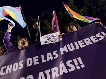 Movilización feminista en contra de la ultraderecha, Sevilla, 2019