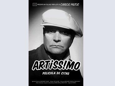 Carlos Pazos. Artissimo. Película de citas (A Film of Quotes). Poster, 2015