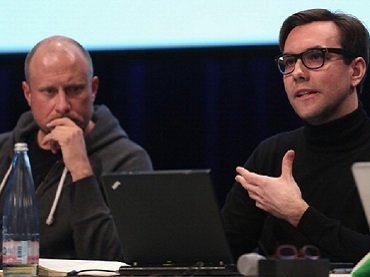 Trevor Plagen y Jacob Appelbaum. Transmediale Festival