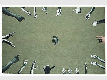 León Ferrari, Dios(God), 1964. Photo collage on cardboard. The Ferrari family Collection, Buenos Aires