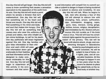 David Wojnarowicz, Untitled (One Day This Kid...) [Sin título (Un día, este niño…)], 1990-1991. Whitney Museum of American Art, Nueva York; adquisición con fondos del Print Committee 2002.183