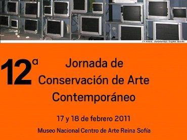 Cartel de la 12ª Jornada de Conservación de Arte Contemporáneo