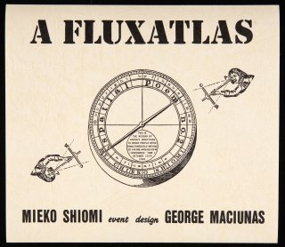 Mieko Shiomi. A fluxatlas: spatial poem. Cartel, 1965 (facsímile de 1992)