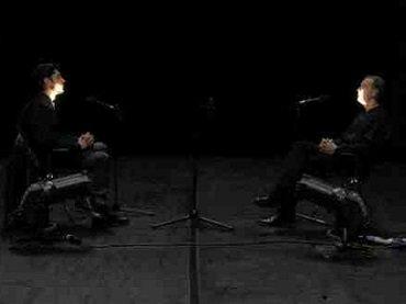 Mattin and Miguel Prado. Evacuación de la voz. Performance, 2014