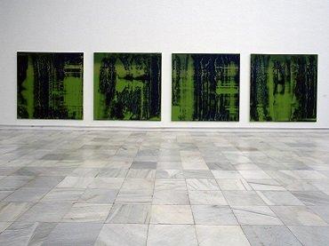 Vista de sala de la exposición. Nuevas abstracciones, 1996