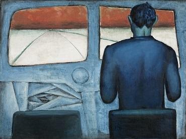 Andrzej Wróblewski, Szofer (Szofer niebieski) [Chauffeur (Blue Chauffeur)], 1948, Private collection, Warszaw  © Courtesy Andrzej Wróblewski Foundation