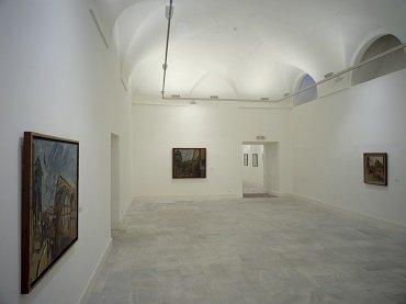 Vista de sala de la exposición. Frank Auerbach, retrospectiva (1954-1985), 1987