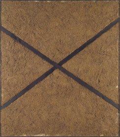 Antoni Tàpies. Paja prensada a la X, 1969. Painting. Museo Nacional Centro de Arte Reina Sofía Collection, Madrid