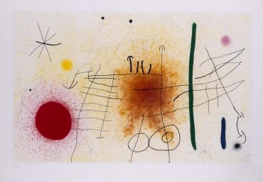 Joan Miró. Partida de campo II, 1967. Graphic Art. Museo Nacional Centro de Arte Reina Sofía Collection, Madrid
