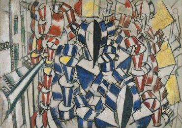 Fernand Léger. La escalera (Segundo estado), 1914. Óleo sobre lienzo. Museo Thyssen-Bornemisza, Madrid