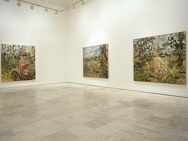 Vista de sala de la exposición. Cecily Brown, 2004