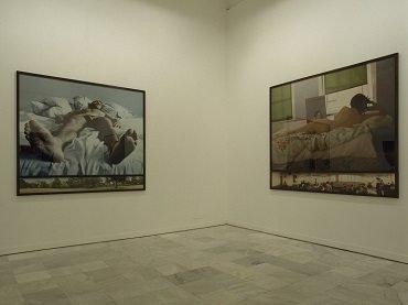 Vista de sala de la exposición. Sam Taylor-Wood. Soliloquy / Noli me tangere, 2000