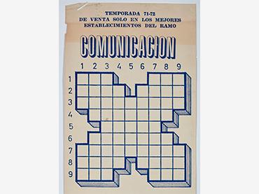 Alberto Corazón, cartel para la colección Comunicación (fragmento), 1972. © Alberto Corazón, A+V Agencia de Creadores Visuales, 2021