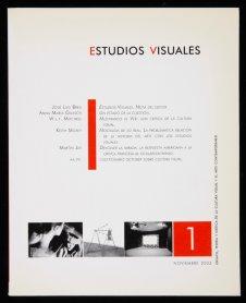 """Primer número de la revista """"Estudios Visuales"""" dirigida por José Luis Brea. Archivo José Luis Brea. Centro de Documentación"""