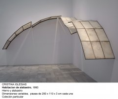 Cristina Iglesias. Habitación de alabastro, 1993
