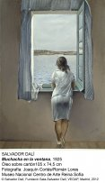 Salvador Dalí. Muchacha en la ventana, 1925