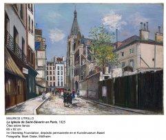 Maurice Utrillo.  L'église Saint-Séverin à Paris, 1925