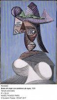 Busto de mujer con sombrero de rayas.1939. Pablo Picasso.