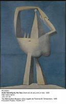 Desnudo de pie junto al mar.1929. Pablo Picasso.