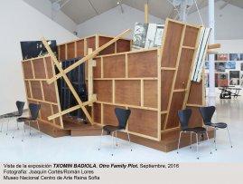 Vista de sala de la exposición Otro Family Plot, de Txomin Badiola.