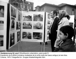 Exposición de la BINA Stadtplannung für wen?. Colonia, 1978. Grupo Arbeiterfotografie