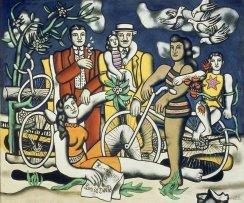 Fernand Léger, Les Loisirs - Hommage à Louis David, 1948-1949. Oil on canvas. 154 x 185 cm. Centre Pompidou, París. Musée National d'Art Moderne / Centre de création industrielle. Adquirido en 1950