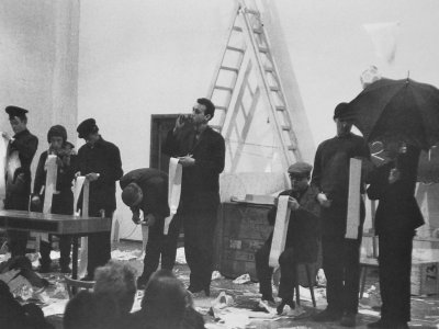 George Maciunas. Homenaje a Adriano Olivetti. Concierto, Academia de Arte de Düsseldorf, 1963