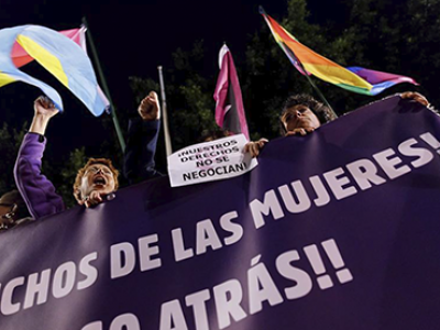 Feminist demonstration against the alt-right, Seville, 2019