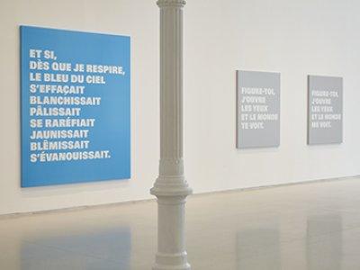 Vista de sala de la exposición Rémy Zaugg. Cuestiones de percepción, 2016