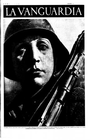 Portada de La Vanguardia, suplemento 14 de noviembre de 1936, Barcelona © LA VANGUARDIA