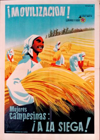 Emeterio Melendreras, ¡Movilización! Mujeres campesinas: ¡A la siega!, ca. 1938. Fundación Pablo Iglesias. Madrid