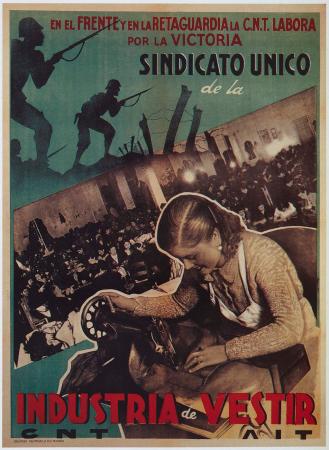 Anónimo, Sindicato único de la industria del vestir, 1937. Imagen cedida por Postermil