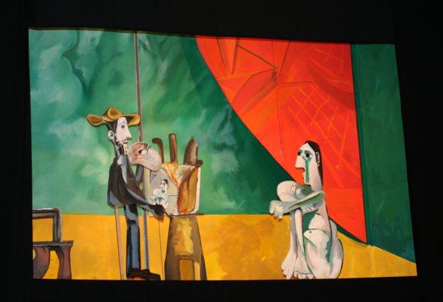 Escena sobre El pintor y la modelo de Pablo Picasso